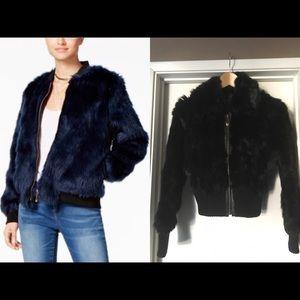 Jackets & Blazers - Faux Fur Bomber Jacket